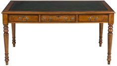 Hand Made English Walnut Writing Table Library Desk