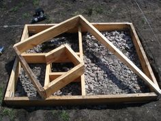 """Fibonacci Curve Garden. A """"twist"""" on the traditional raised bed garden and herb spiral."""