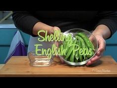 How to Shell Peas Easily http://www.youtube.com/watch?v=8sAp4TscWqM