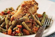 Κοτόπουλο με λαδερά λαχανικά