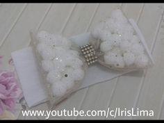 Laço de tule com polinhas - Passo a Passo - YouTube