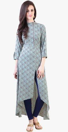 15 Beautiful And Stylish Kurtis for Jeans In India Simple Kurti Designs, Kurti Neck Designs, Kurta Designs Women, Blouse Designs, Indian Attire, Indian Outfits, Stylish Dresses, Casual Dresses, Stylish Dress Book