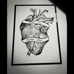 #dotwork#illustration#tattoo#sketch#heart#quote#blackwork#lines