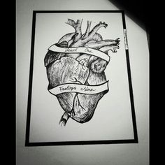 #dotwork#illustration#tattoo#sketch#heart#quote#blackwork#lines