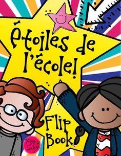 Celebrate your superstar grads with this fun flip book-style memory book! Étoiles de l'école! 1ère, 2ème, 3ème! End of the school year fun!