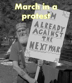 march in a protest