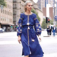 I love folk inspired dresses  and young Australian designer labels Wearing @belindahumphrey_ dress today.  Have a beautiful weekend guys! Enjoy a bit of sunshine Melbourne