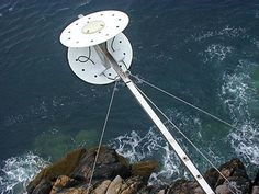 Star2Earth's Oceanpal sensor installed on water front for measuring of water levels and wave heights.