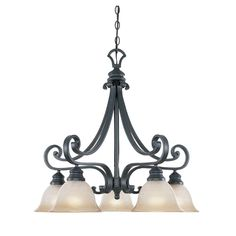 Designers Fountain Monte Carlo 5-Light Hanging Natural Iron Chandelier-96185-NI - The Home Depot