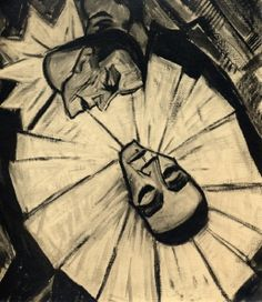Erich Heckel, Dead Pierrot, 1914 by kraftgenie, via Flickr