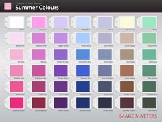 Colour Palette | Summer palette