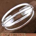 Genuine Sterling Silver Navajo Native American Cuff Bracelet
