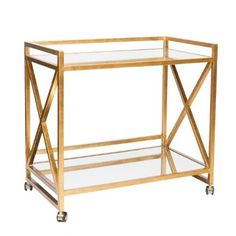 Gerard Gold Leafed Bar Cart #BarCart #HomeDecorators #LivingRoomIdeas