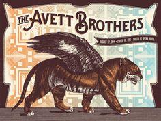 Avett Brothers - Status Serigraph - 2014 ----