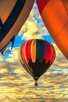 Colorful Framed Hot Air Balloon  by Robert Bales   ~Prints Available @FineArtAmerica.com