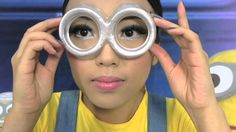 Yellow and Purple Minion Halloween Make up Tutorial - YouTube
