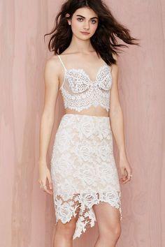 Keepsake I Will Wait Lace Skirt