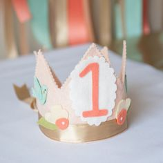Use your crown for years to come with our 2-10 number pack. Purchase with our Shabby Chic Lace Birthday Crown or Shabby Chic Bird Birthday Crown. Dimensions & Details: - Includes felt numbers 2-10, ea