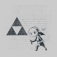 Link: the graffiti artist. I knew he was a vandal! Breaking pots, and now this! ;)