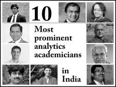 INSOFE on a ranking spree! Two of our faculty (Dr. Dakshinamurthy and Dr. Sreerama Murthy) listed among the top 10 Analytics academicians in India. Wouldn't be surprised if they are listed among the World's top 10.