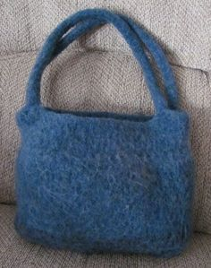 blue green wool tweed felted tote.  see others at mpvdesign.etsy.com