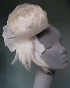 Ivory Feather Flower