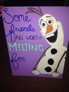 This would be such a cute birthday gift for a really good friend! I love Olaf!