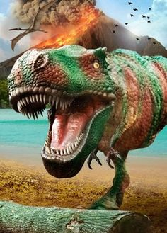 DINOSAURS - volcano posters   photos   images   pictures