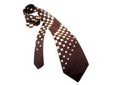 Silk Tie Elegant Tie/ Elegant Style, Brown Tie/ Vintage Man's Accessories by SixVintageChicks on Etsy