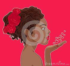 African-American woman in love by Daria Timofeeva, via Dreamstime
