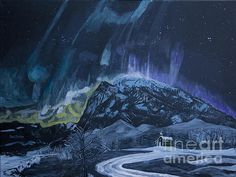 Title:  Church Of The Aurora  Artist:  Ian Donley  Medium:  Painting - Acrylic On Canvas
