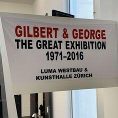 «Gilbert & George» THE GREAT EXHIBITION 1971-2016 - Kunsthalle Zürich/LUMA Westbau Martin Parr, Halle, Pop Art, Religion, Cinema, Art, Movies, Art Pop, Cinematography