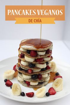 Pancakes, Breakfast, Food, Sunday Brunch, Tasty, Vegans, Fruit, Health, Morning Coffee