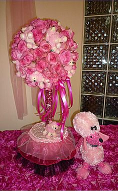 Pink Poodle in Paris balloon decoration for Birthday Party and Special Events.