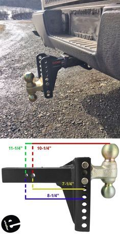 Channel Style Adjustable Ballmount 2 2 5 16 Balls 14 000 Lbs Curt Trailer Hitch Ball Mount C Trailer Hitch Trailer Diy Trailer Accessories
