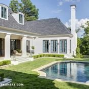 Haynes drew inspiration from the classics--French influence, Mediterranean design and British architecture--when designing both the interior and exterior spaces of her home.