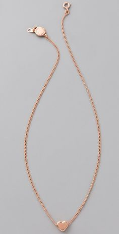 Mini Charm Tiny Heart Pendant Necklace - Marc by Marc Jacobs -