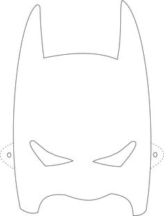 Batman mask printable coloring page for kids: Coloring pages of various face masks