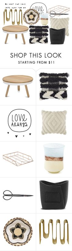 """always"" by dodo85 on Polyvore featuring interior, interiors, interior design, home, home decor, interior decorating, Bloomingville, DwellStudio, U Brands and Verso Design"