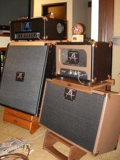 Custom Hardwood Amp Stands - Gearslutz.com