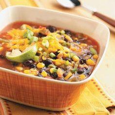 Super quick black bean soup