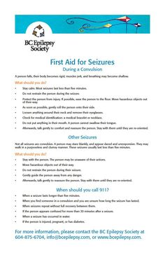 19 Beautiful Seizure First Aid Poster