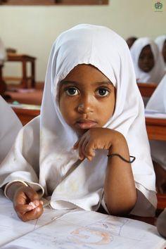 Tanzanian Muslim Little Girl in Hijab