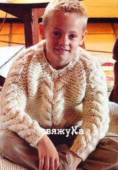 пуловер спицами +для мальчика