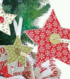 Quilted ornaments!