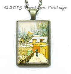 Alfred Sisley  Snow at Louveciennes  Old by HorizonCottage on Etsy