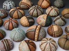 Meagan Chaney sea urchin-inspired earthenware sculptures