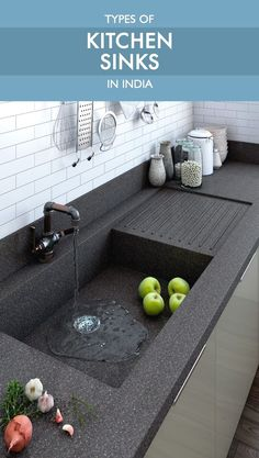 Kitchen Sinks Ideas Read all about types of kitchen sinks available in India before making this crucial purchase - Make an informed decision before you purchase a kitchen sink. This is as important as picking the right chimney or hob. Kitchen Sink Design, Best Kitchen Sinks, Modern Kitchen Design, Kitchen Layout, Interior Design Kitchen, New Kitchen, Modern Kitchen Interiors, Kitchen Corner, Kitchen Tile
