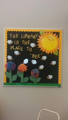 Spring Library Bulletin Board