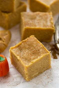 Peanut butter pumpkin fudge: If you've never tried peanut butter and pumpkin together, now's definitely the time. Crazy for Crust has a super-simple recipe that can be made in the microwave.